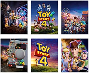 BigWig Prints Toy Story 4 Posters - Set of 6 (8 inches x 10 inches) Wall Decor Promo Photos - Woody Buzz Lightyear Jessie Little Bo Peep Duke Caboom Forky Ducky & Bunny