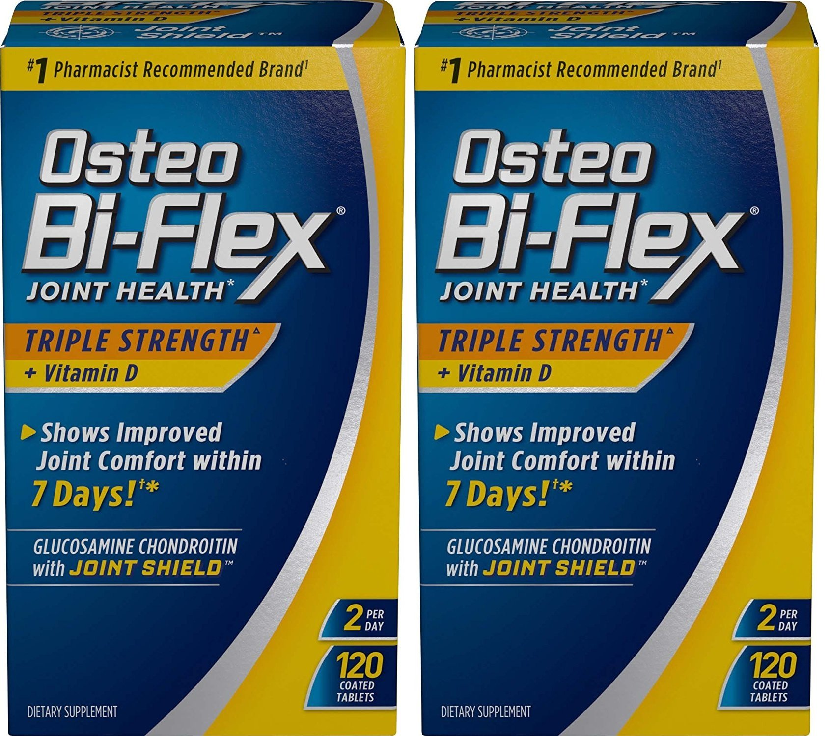Osteo Bi-Flex Triple Strength w/ Vitamin D, 120 Coated Tablets (Pack of 2)
