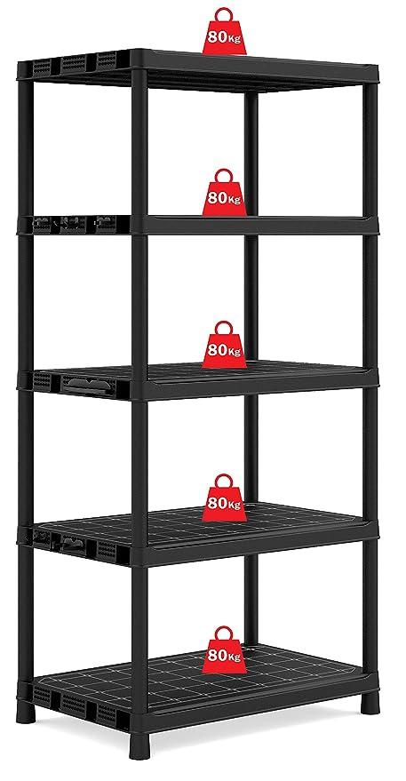 Exceptionnel Extra Deep 5 Tier Plastic Racking Shelf Shelves Shelving Storage Unit   400  Kg Load Capacity