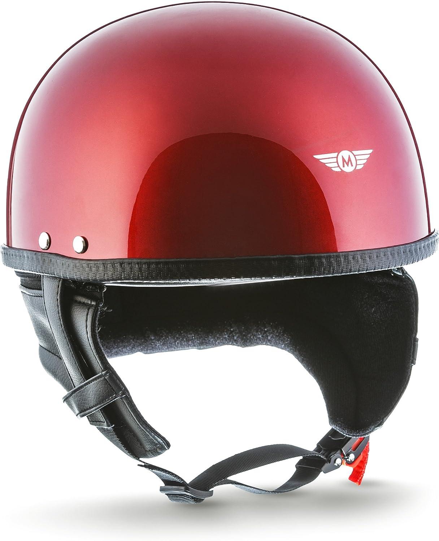casque Pilot Cruiser Scooter mobylette Moto Helmets D22-Mono/Braincap Casque demi-coque de moto de scooter Vespa v/élo chopper R/étro Vintage Avec housse en plastique