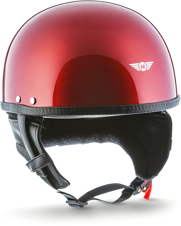 Moto Helmets D22-Mono –  Casco aperto per motociclo, vespa, roller e chopper, vintage, con borsa da trasporto in tessuto D22_WHITE_XL
