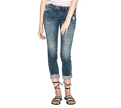 906ad094 Amazon.com: Silver Jeans Co. Sam Boyfriend Mid Rise Slim Leg Jeans: Clothing