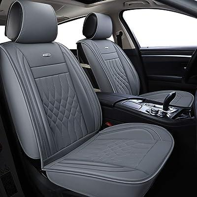 LUCKYMAN CLUB Gray Car Seat Covers Fit Most Sedan SUV Truck Fit for Outback Crosstrek Forester Legacy Impreza WRX Kia Optima Sportage Rondo Rio Cadenza Ford Fusion Escape (Gray): Home & Kitchen