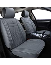 LUCKYMAN CLUB Gray Car Seat Covers Fit Most Sedan SUV Truck Fit for Subaru Outback Crosstrek Forester Legacy Impreza WRX Kia Optima Sportage Rondo Rio Cadenza Ford Fusion Escape (Gray)