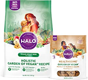 Halo Garden of Vegan Holistic Grain Free Natural Crunchy Dog Treats, 8-Ounce Bag
