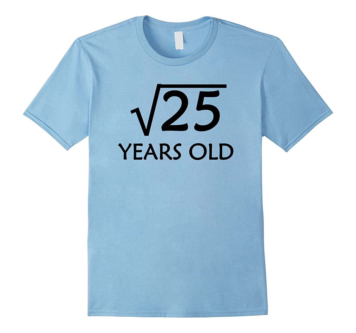 5th Birthday T-Shirt | Square Root of 25 - 5 Years Old-FL