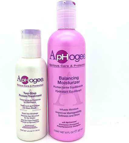 Aphogee equilibrio humectante 237 ml y dos paso proteína Kit de tratamiento 118 ml