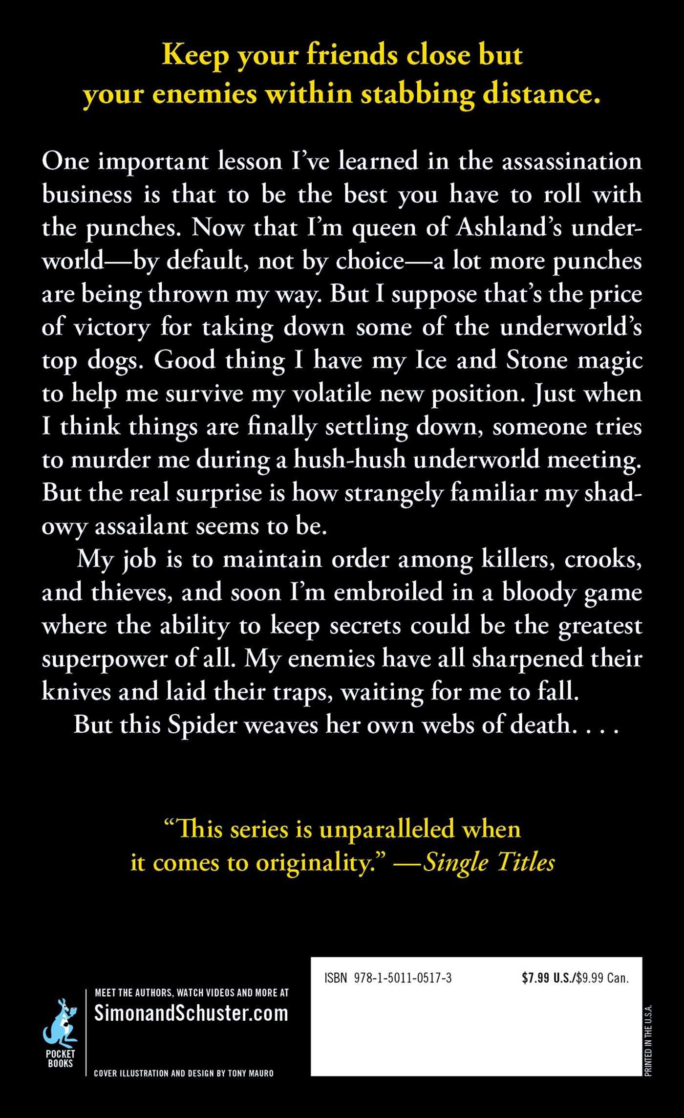 Spider's Trap (elemental Assassin): Jennifer Estep: 9781501105173:  Amazon: Books