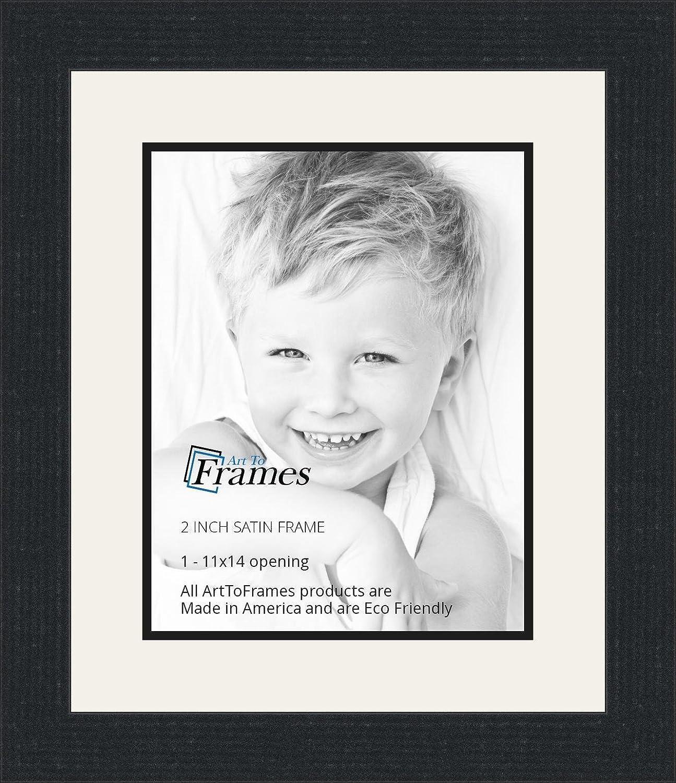 Amazon.com - 11x14 / 11 x 14 Picture Frame Satin Black .. 2\'\' wide ...