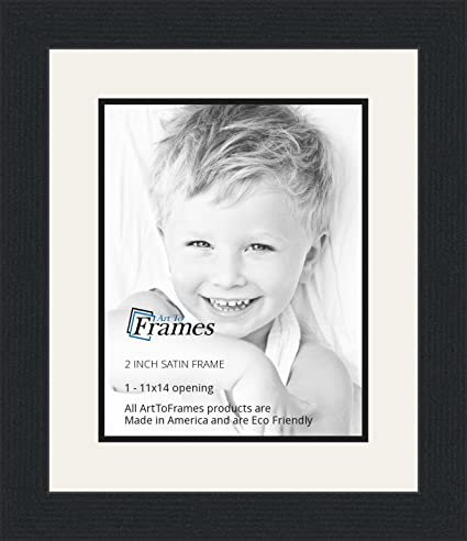 Amazon.com - 11x14 / 11 x 14 Picture Frame Satin Black .. 2\'\' wide ...