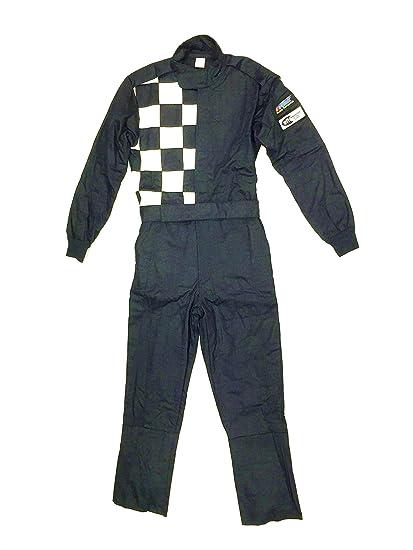 Racing Fire Suits >> Amazon Com Racing Fire Suit 1 Piece Double Layer Sfi 5 Medium Black