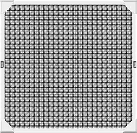 ALSGON Mosquitera Ventana Recortable 20X20in Protecci/ón Anti Insectos Y Moscas F/ácil Instala Y Puede Lavar Y Duradero para Ventana Est/ándar Y sobre Medida,Black,50x50cm
