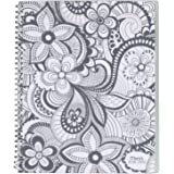 Mead 2018-2019 Academic Year Weekly & Monthly Planner, Large, 8-1/2 x 11, Zendoodle, Paisley (CAW604D2)