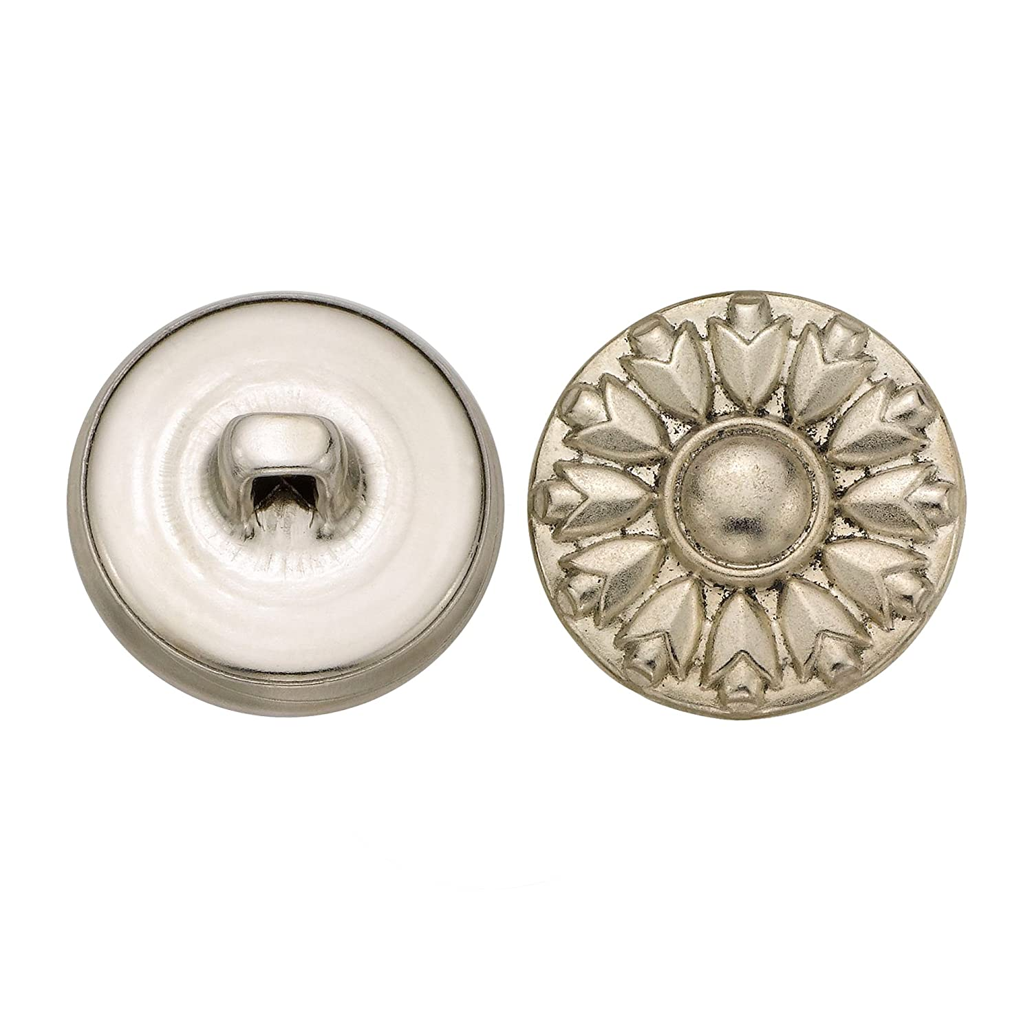 C/&C Metal Products 5229 Modern Metal Button 36-Pack C/&C Metal Products Corp Size 30 Ligne Nickel
