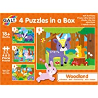 Galt 1005236 Woodland 4 Puzzles in A Box Woodland Puzzles