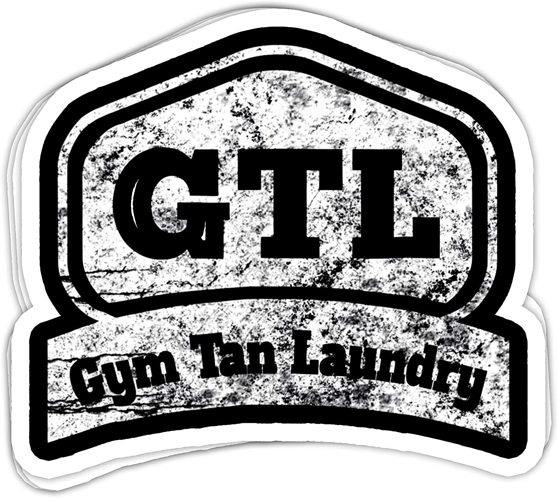 "Lplpol Set of 3 GTL- Gym Tan Laundry Cool Gym Vinyl Stickers Laptop Decal Water Bottle Sticker 4"" x 3"""