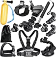 Robustrion 12-In-1 Outdoor Sports Essentials Kit for GoPro Hero 4 Silver Black Hero