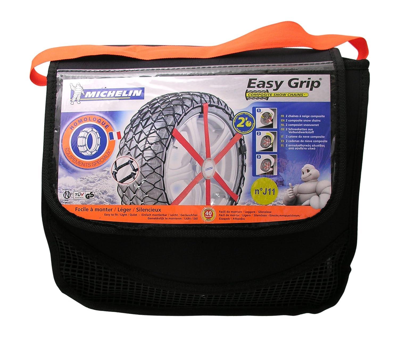 compatible con ABS y ESP, certificado T/ÜV//GS y /ÖNORM Easy Grip S11 2 piezas Michelin 92306 Cadenas de nieve de tela para coche
