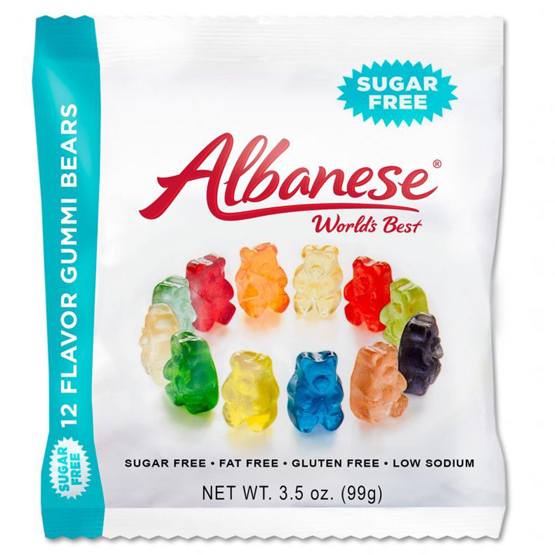 Albanese Sugar-Free 12 Flavors Gummi Bears Peg, 3.5 Ounce (Pack of 12)