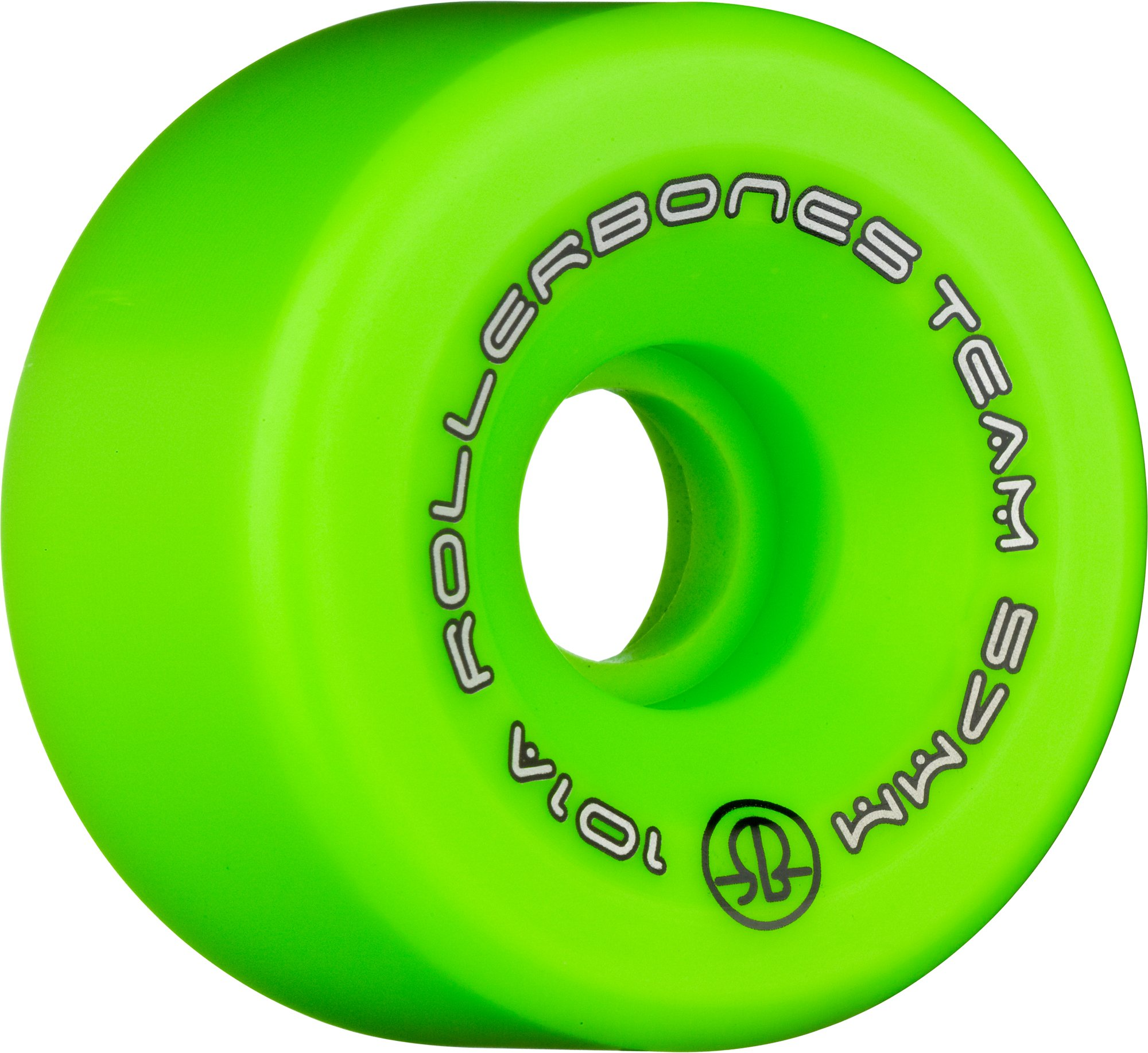 RollerBones Team Logo 101A Recreational Roller Skate Wheels (Set of 8), Green, 57mm by RollerBones