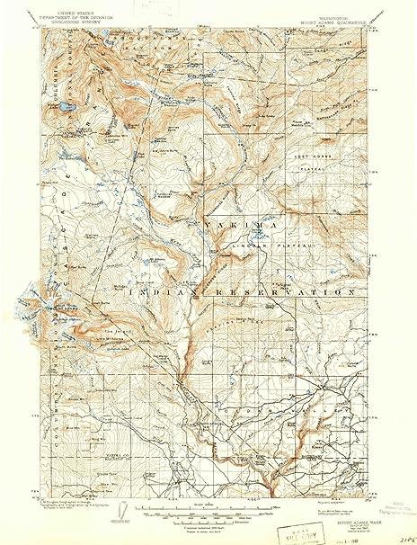 Mt Adams Washington Map.Amazon Com Yellowmaps Mount Adams Wa Topo Map 1 125000 Scale 30 X