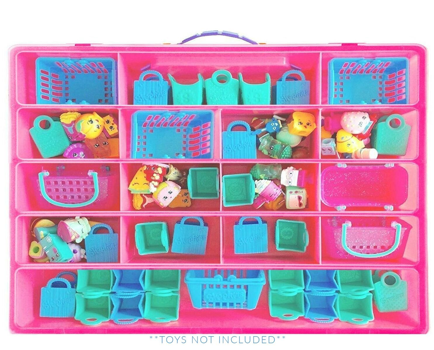 Littlest Pet Shop Case, Toy Storage Carrying Box. Figures Playset Organizer. Accessories For Kids by LMB Life Made Better LMB111