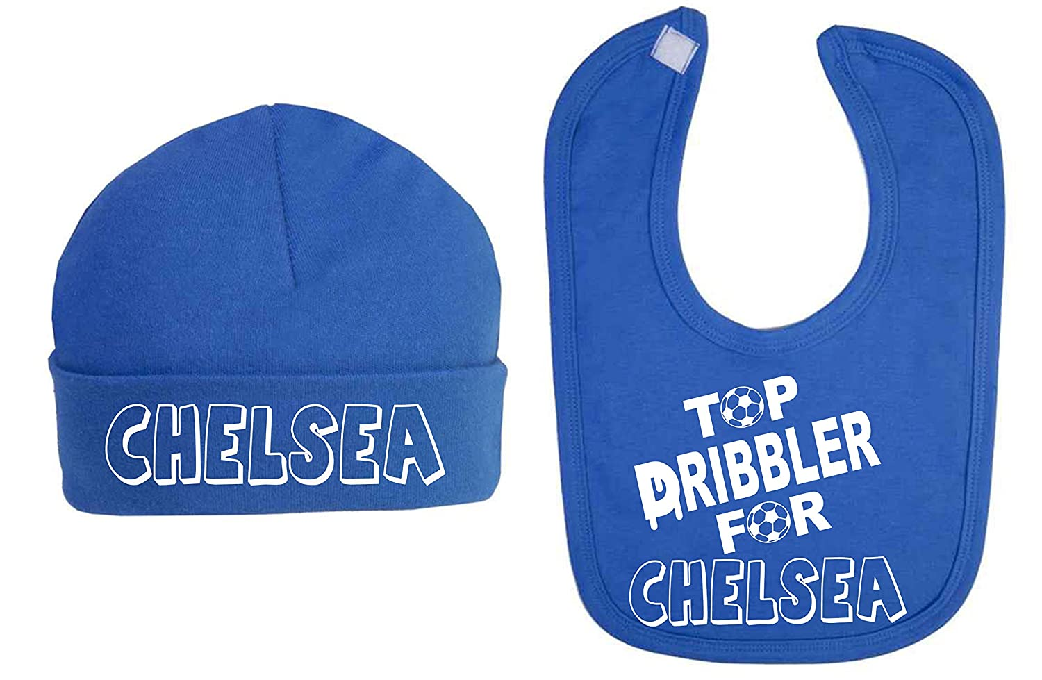 Top Dribbler for Chelsea Baby Hat and Bib Set Baby Shower Gifts Football Lovers Baby Football Top (0-3 Months) ICKLE PEANUT