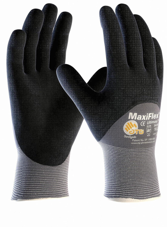 Gr/ö/ße:9 L 3er Pack MaxiFlex Ultimate /¾ beschichtet Arbeitshandschuh Montagehandschuh