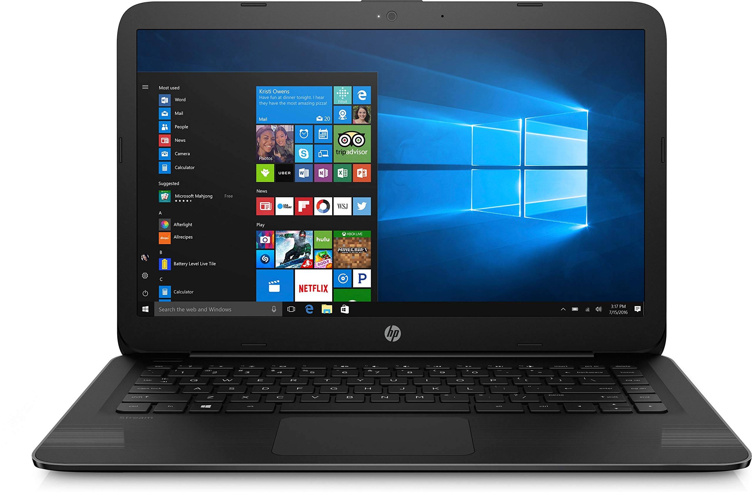 "2018 Newest HP 14"" Flagship Laptop PC - Intel Dual Core up to 2.48GHz, 4GB RAM, 32GB eMMC, free 1-yr Office 365, 1TB OneDrive Cloud, DTS Studio, WLAN, HDMI, Webcam, USB 3.0, Windows 10 1"