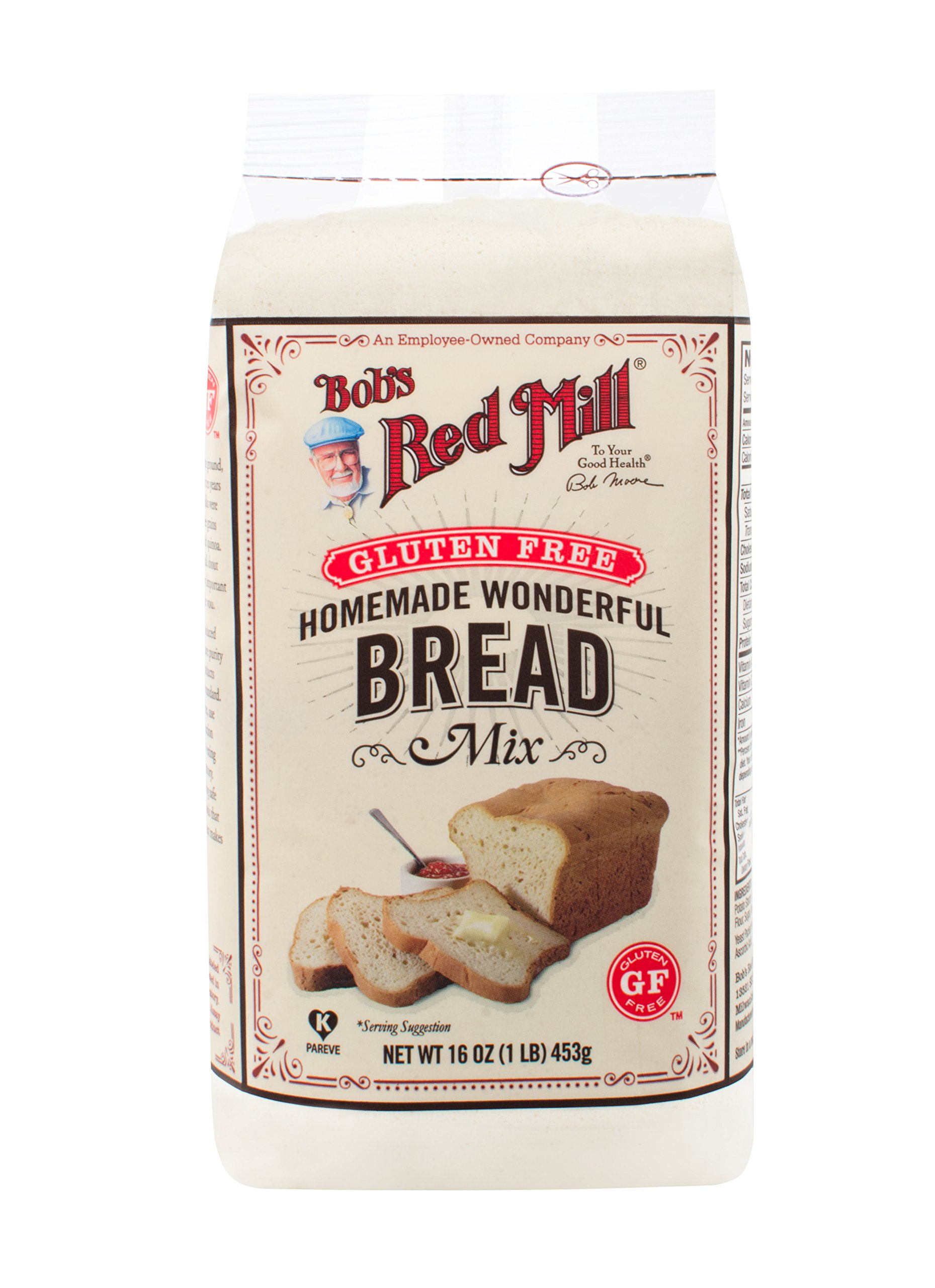 One 16 oz Bob's Red Mill Homemade Wonderful Gluten-Free Bread Mix by Bob's Red Mill (Image #1)