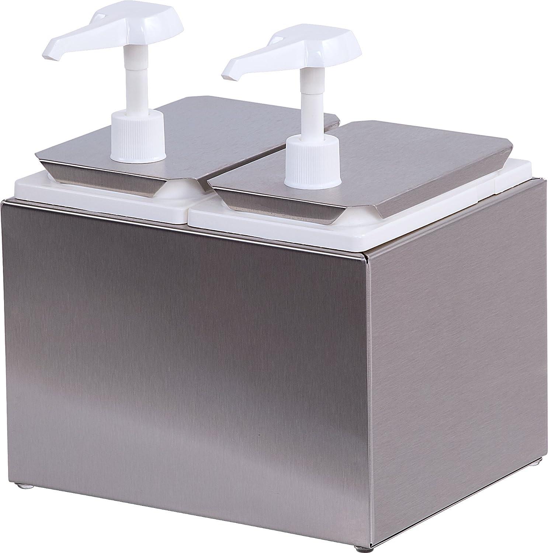 Carlisle 38502 Double Condiment Pump Station with 2.5 Quart Jars