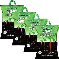 TrustBasket Organic Vermicompost Fertilizer Manure for Plants -20 kg