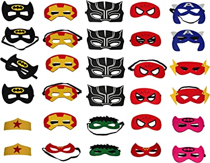 Superhero Masks  Super hero costume masks party masks