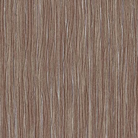 Forest wood brown embossed textured wallpaper for walls double roll by romosa wallcoverings