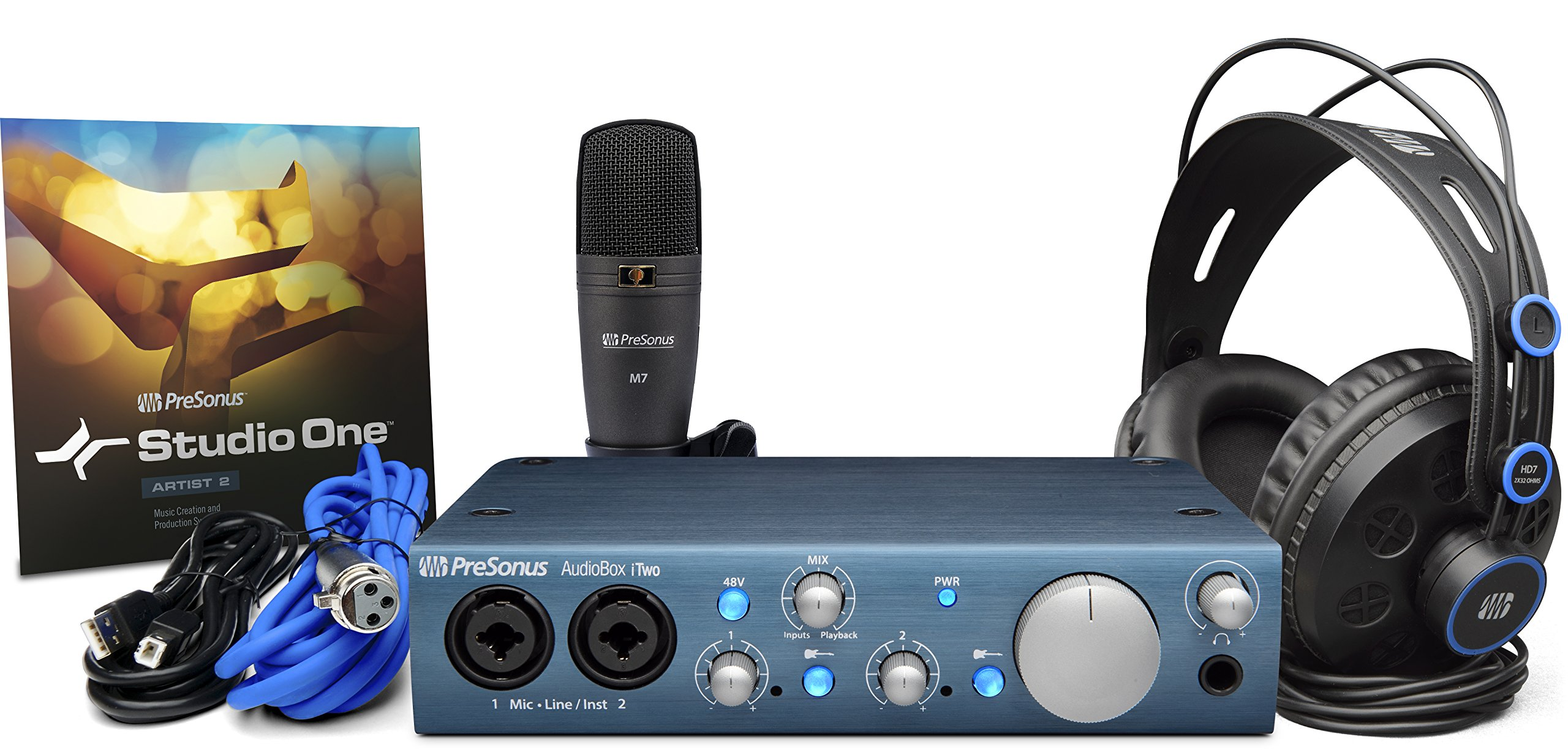 PreSonus Audiobox iTwo Studio USB/iPad hardware/software recording kit by PreSonus