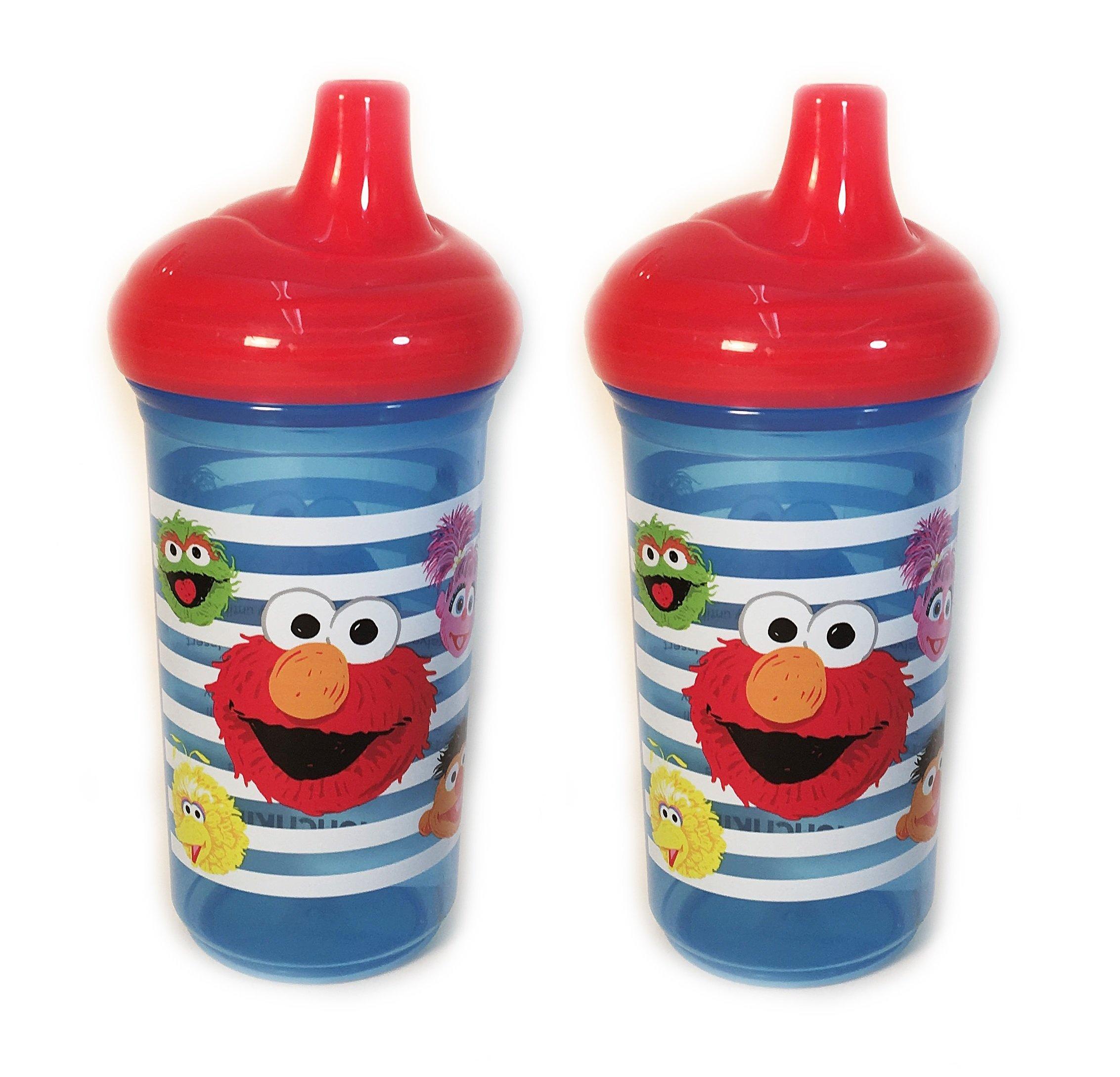 Set of 2 Munchkins Sesame Street 9 oz Sippy Cups  sc 1 st  Amazon.com & Amazon.com : Munchkin Sesame Street Dining Set : Baby Dinnerware ...