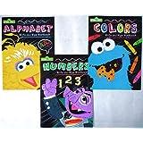 Set of 3 Sesame Street Write and Wipe Workbooks (Alphabet, Numbers, & Colors)