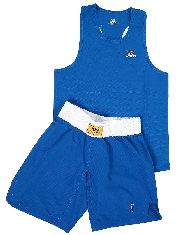 d0d818ffe3 wesing Boxing Uniform Boxing Suit Amateur Boxing Set (Blue