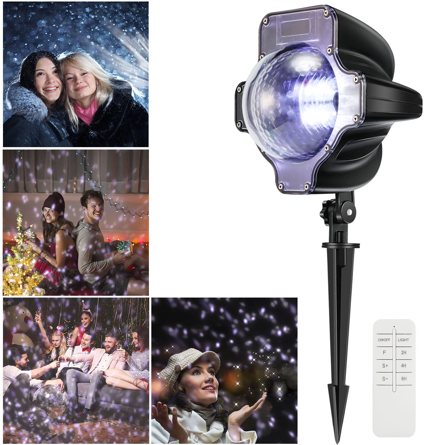 Christmas Projection Lights, Magicfly Xmas Snowfall Projector LED light Waterproof Rotating Fairy Landscape LED lights with Remote Control for Christmas, Party, Patio, Holiday Decorations