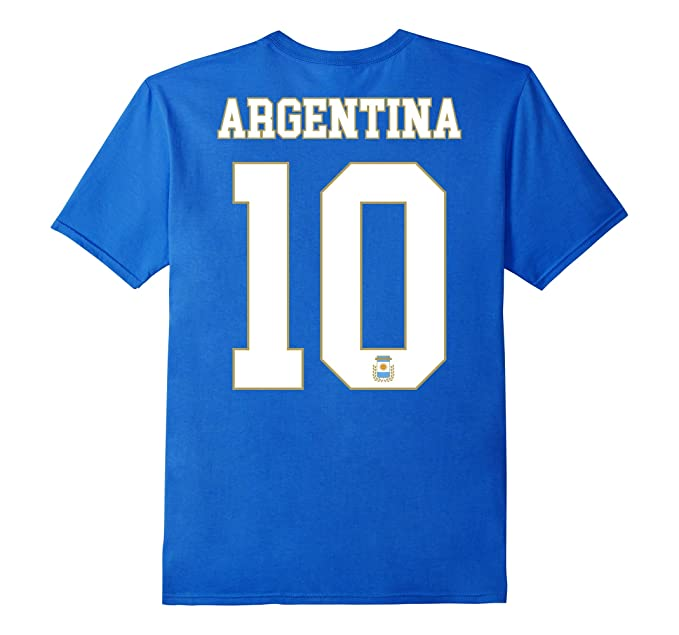 Amazon.com: Argentina Shirt Number 10 + BACK Soccer Team Sports Futbol: Clothing