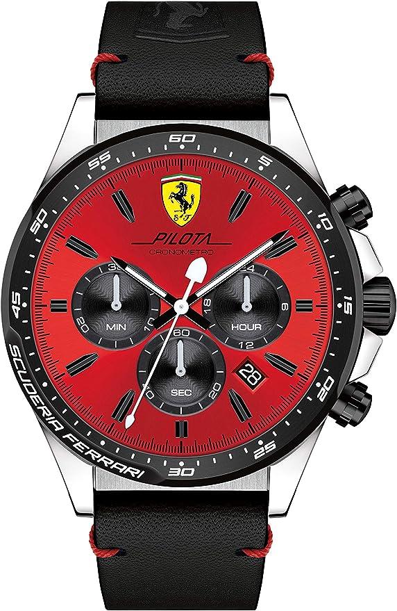 Ferrari Herren Watch Pilota Chronometro Reloj 0830387 Amazon De Uhren