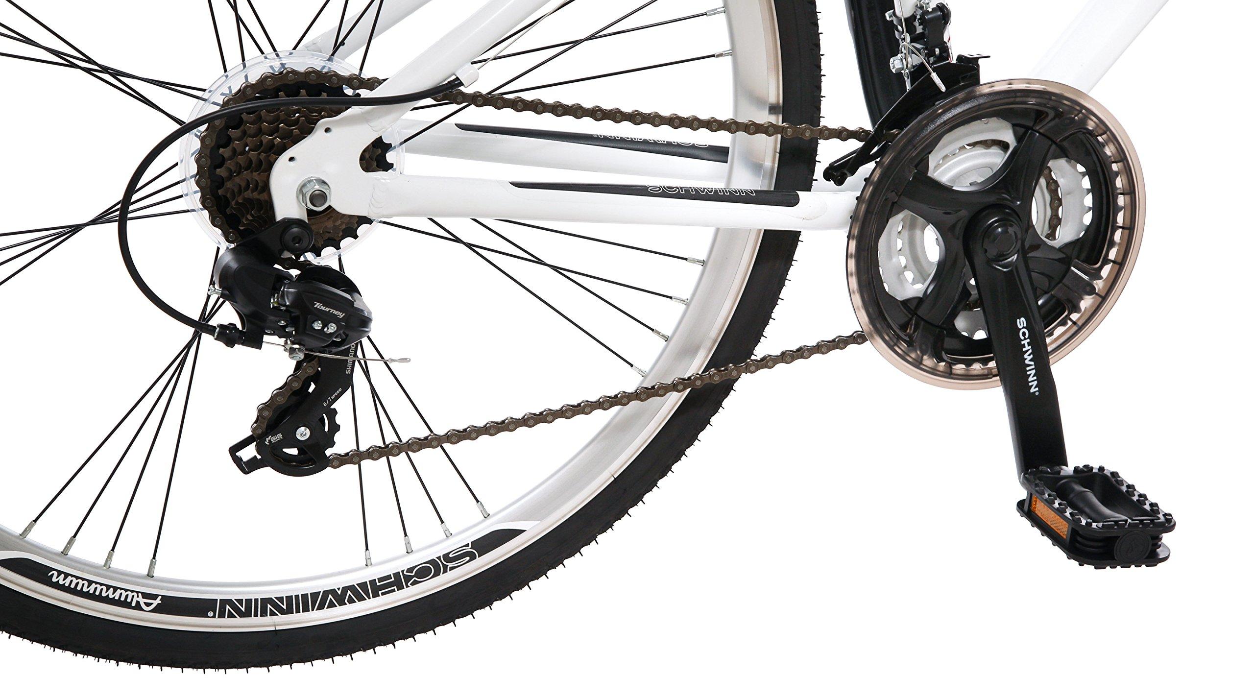 Schwinn Men's Network 3.0 700C Wheel Men's Hybrid Bicycle White, 18' Frame size by Schwinn (Image #5)