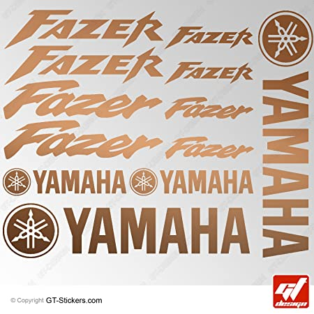 Aufkleber Yamaha Fazer Kupfer Brett 16 Sticker