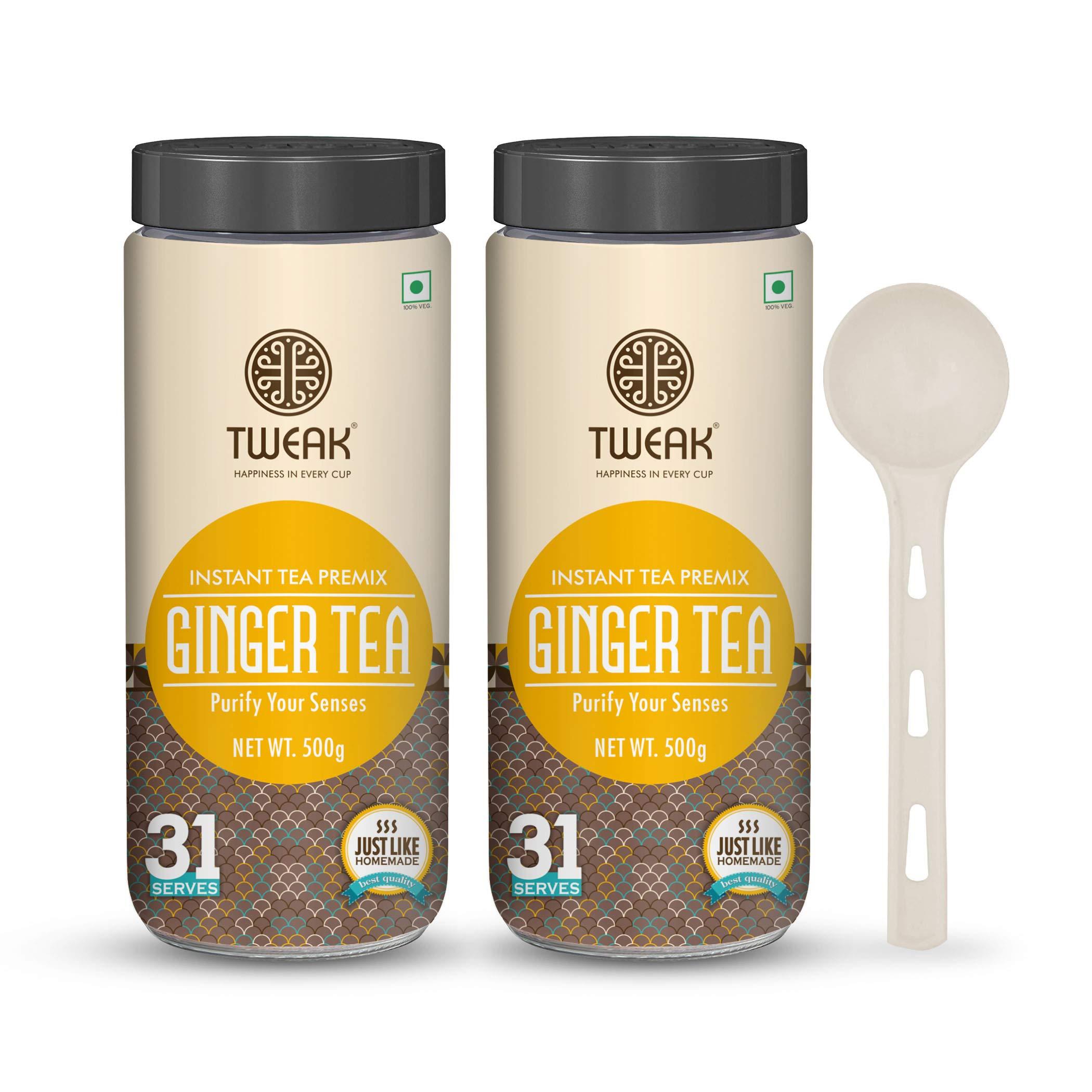 Tweak Instant Tea premix with Ginger 500g x 2 Jars