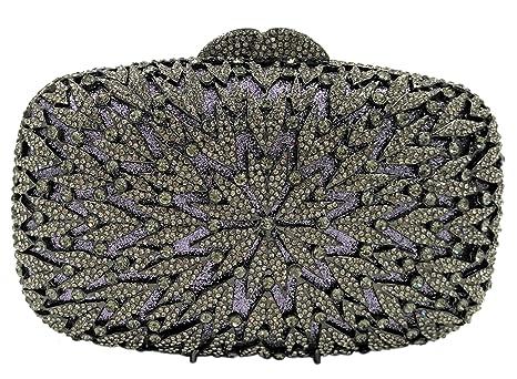 Brillo Bolso Mujer Noche Bolsas Fiesta Boda Carteras Mano Diamantes Cadena Embrague Negro