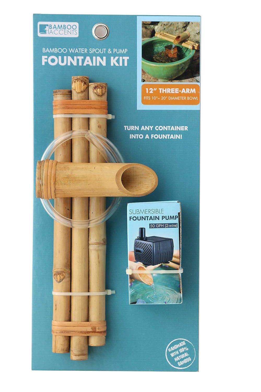 Amazoncom  Bamboo Accents Zen Garden Water Fountain Spout - Amazon pond pumps