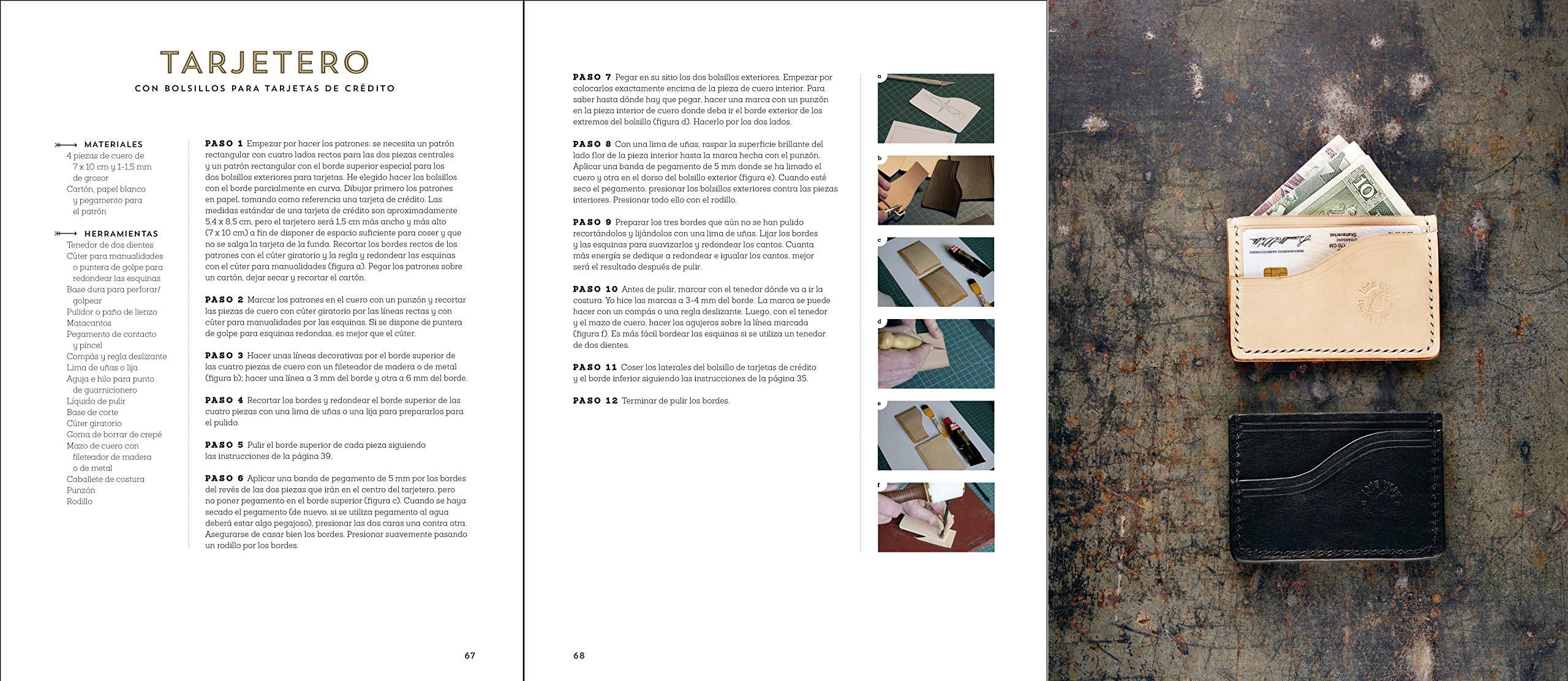 Manual Del Cuero: 20 proyectos artesanales paso a paso: Amazon.es ...