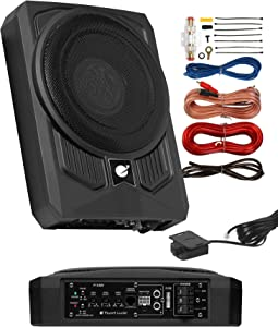 Planet Audio P10AWK Amplified Car Subwoofer - 1000 Watts, Low Profile, 10 Inch Subwoofer, 8 Gauge Amplifier Installation Kit Included. Great for Vehicles That Need Bass But Have Limited Space