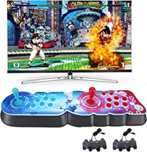 FlySkip 3399 Games in 1 2D 3D Pandoras Box 9S Retro Video Arcade Games Console CPU Full HD Support for 4 Players HDMI USB Multi-Color LED Backlight with 2 x Gamepad