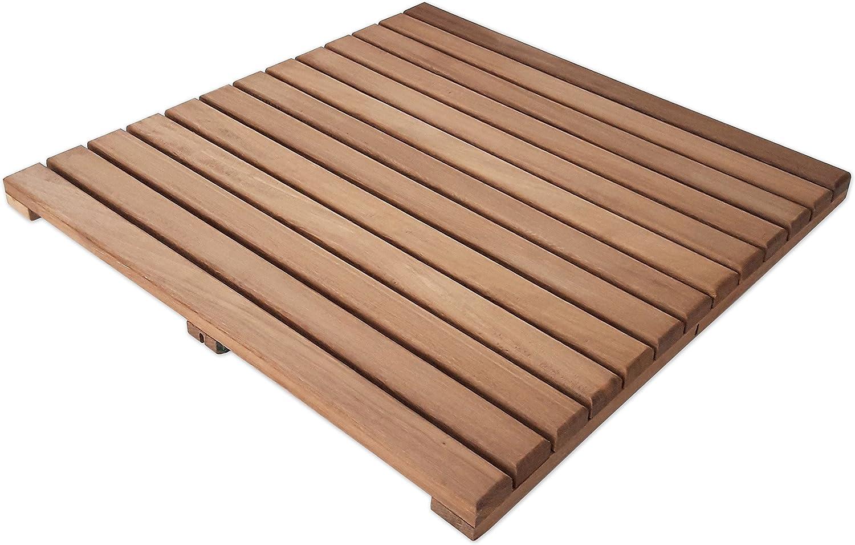Loseta rígida en madera de teca tratada con aceite vegetal ...